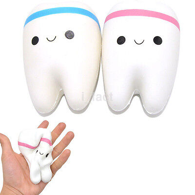 Super Soft Squeeze Stretch Rare Kawaii Squishy Teeth Bread Slow Rising Toy Gift