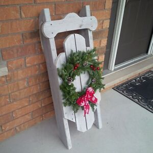 fall christmas decoration sled