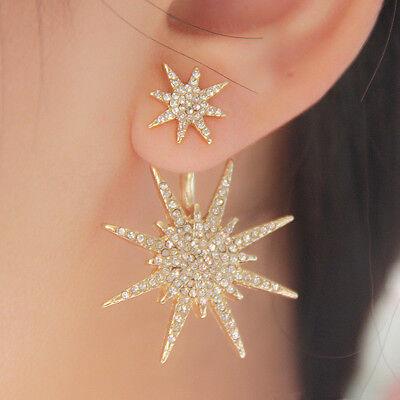 1pc Women Lady Crystal Rhinestone Dangle Gold Star Ear Stud Earring Jewelry NEW](Gold Star Jewelry)