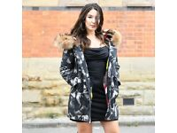 DAYMISFURRY--AW18 Premium Mink Fur Lined Military Parka with Raccoon Fur Hood