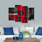 Framed Abstract Canvas Print Home Decor Wall Art Painting Pictures Red Black