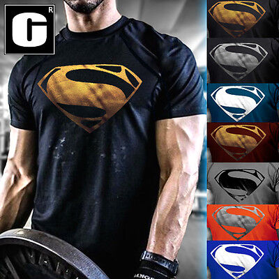 - Men's New Superman Gym Singlets T-Shirt Bodybuilding Fitness Sports Clothes