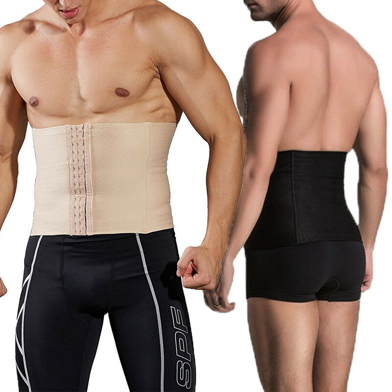 MEN WAIST TRIMMER SLIMMING BELLY-WRAP BODY SHAPER FAT BURNER