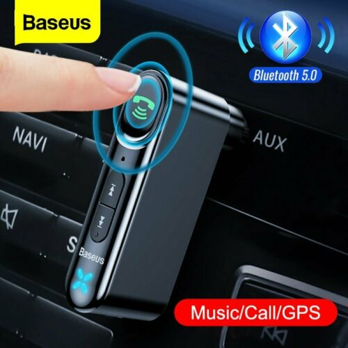Baseus Car Bluetooth 5.0 Receiver 3.5mm AUX Wireless Adapter Speaker MP3 Player