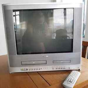 Combination Flat Color Toshiba TV and DVD - VHS player