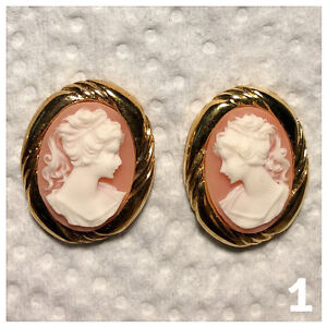 """""""CAMEO"""" STYLE FASHION EARRINGS FOR SALE"""