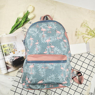 Flamingo Travel Waterproof Laptop Backpack Casual Bookbags School Bags Daypack