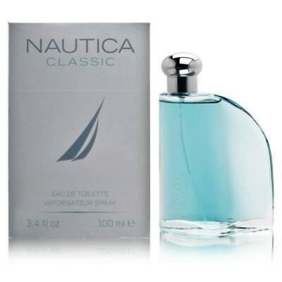 NAUTICA CLASSIC Cologne for Men 3.4 oz Eau de Toilette Spray Original New In Box