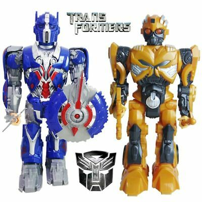 2PCS TRANSFORMERS BUMBLEBEE & OPTIMUS PRIME TALKING WALKING ACTION FIGURES TOY, used for sale  Shipping to Canada