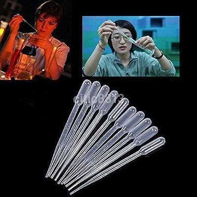 100pcs 0.5ml Disposable Plastic Eye Dropper Set Transfer Graduated Pipettes