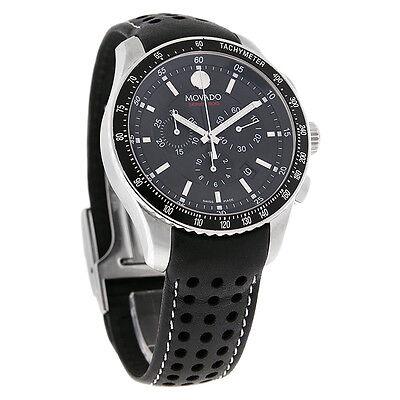 Movado 800 Series Mens Black Dial Swiss Quartz Chronograph Watch 2600096
