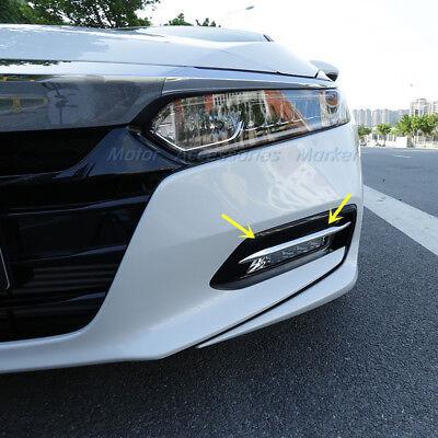 Chrome Fog Light Trim - New Chrome Front Fog Light Trim for Honda Accord 10th 2018