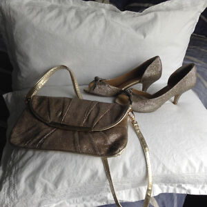 Sexy cocktail shoes and matching purse by Spring