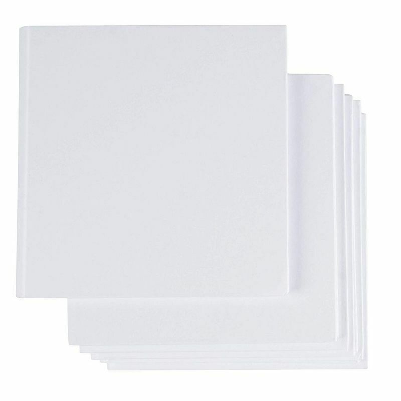 "6-Pack Hardcover Blank Book Unlined Sketchbooks for Students Writing White 5""x5"""