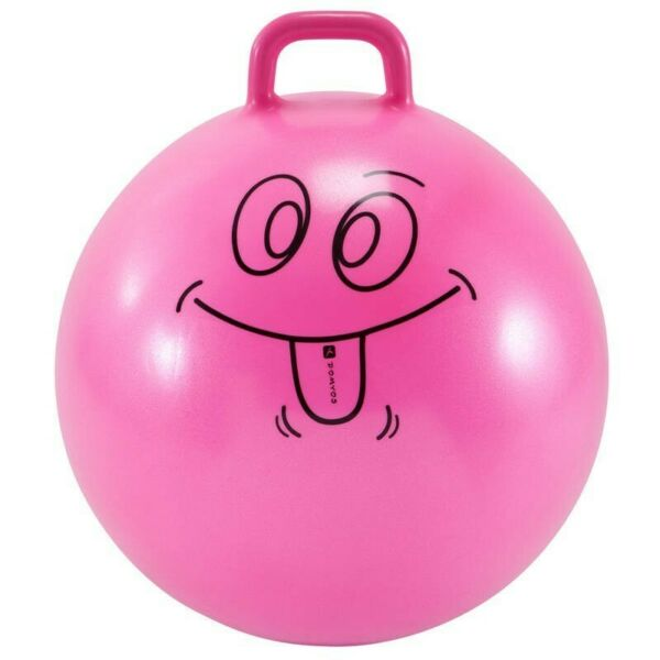 60 CM KIDS' GYM SPACE HOPPER - PINK children kid toy