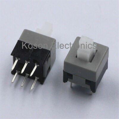 20pcs 6pin Push Tactile Power Micro Switch Self Lock Onoff Button Latching Swit