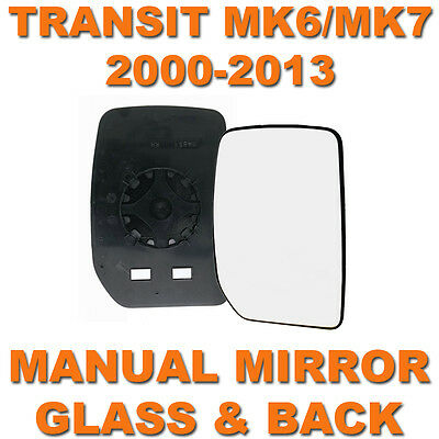 FORD TRANSIT MK6  MK7 2000 2013 DOOR WING MIRROR GLASS DRIVERS SIDE RIGHT OS
