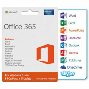 Office 365 ProPlus - OneTime Fee | Instant Delivery | 5 Devices
