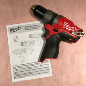 "Brand NEW - Milwaukee M12 FUEL 1/2"" Drill/Driver (Tool Only)"