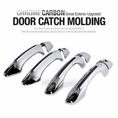 Carbon Door Handle Cover Trim Set Garnish for HYUNDAI 2013-2017 Santa Fe