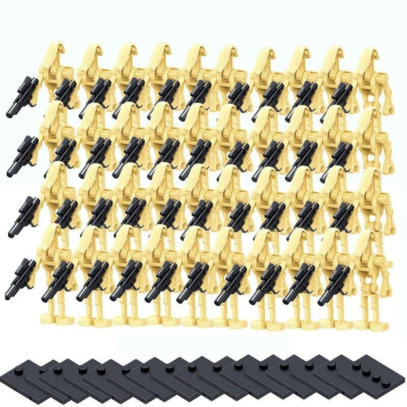 20 Star Wars Battle Droids Minifigures Lot Army Set Lego Compatible - USA SELLER