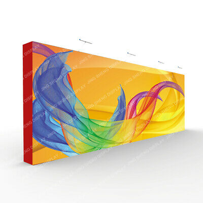 New 20ft Pop Up Stand Trade Show Display Booth Back Wall With Custom Print 2