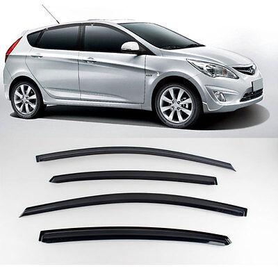 New Smoke Window Vent Visors Rain Guards For Hyundai Accent 5door 2011 2013 Car 401 Visors