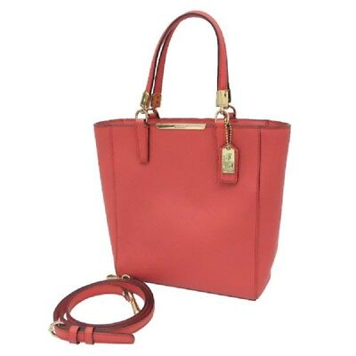 - Coach 29001 Madison Mini North/South Msrp Love Red Saffiano Leather Tote Bag NWT