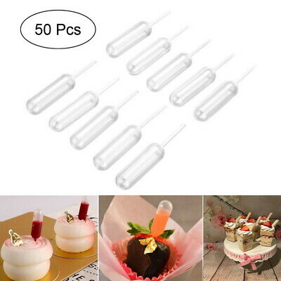 50pcs Transfer Pipettes Dropper 4ml Jam Dropper Paint Dye Transfer