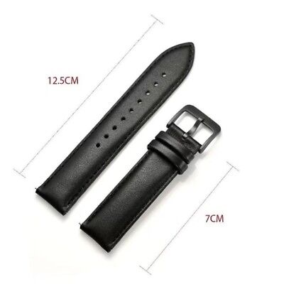 Genuine Leather Watch Band Strap For Samsung Gear S2Classic R732/R735 Black 20MM