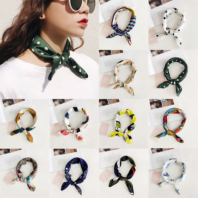 Women Elegant Square Silk Feel Satin Scarf Small Vintage Head-Neck Hair Tie Band](Hair Scarf)