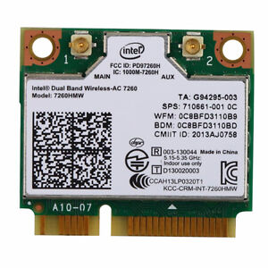 Intel Wireless Adapter - Dual Band N and Bluetooth 4 - mini PCIe London Ontario image 1