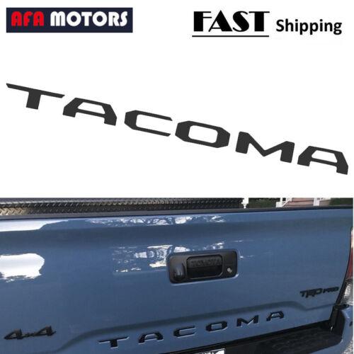 For 2016 2018 Toyota Tacoma Rear Tailgate Insert Letter Sticker Matte Black