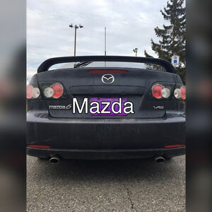 2007 Mazda Mazda6 Black leather Sedan
