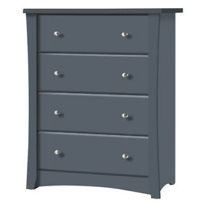 Storkcraft Crescent 4-Drawer Chest-Grey