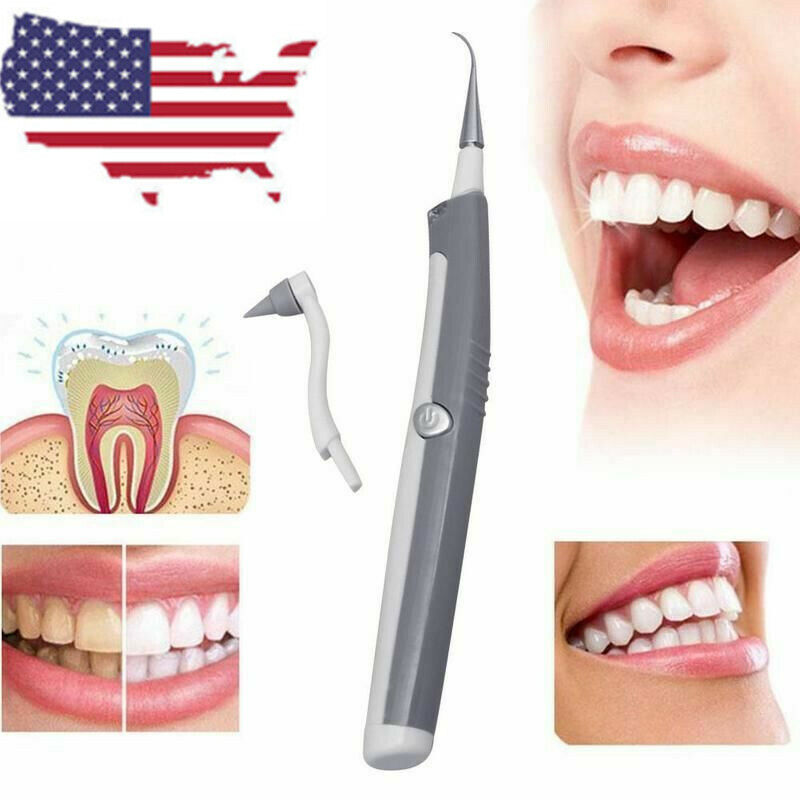 Electric Sonic Pic Tooth Kit Beauty Cleaner Plaque Remover Teeth Tool Oral Care
