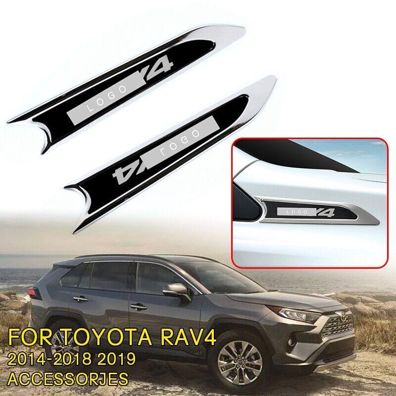 Car Parts - Black Car Fender Side Body Decal Moldings Fits Toyota Rav4 2014 18 19 Car Parts