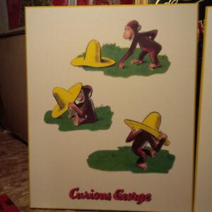 Curious George framed art