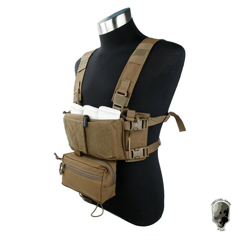 TMC Tactical Modular Chest Rig Micro Fight Chassis w/ 5.56 Mag Pouch Camouflage