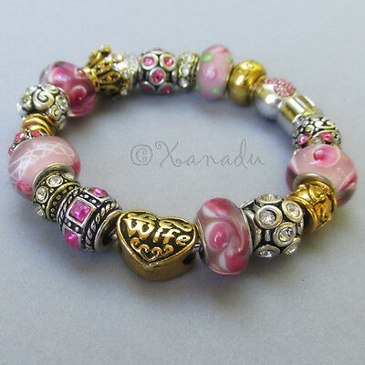Pink Gold And Silver My Wife Is My Best Friend European Charm (Wife And My Best Friend)