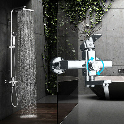 Chrome Wall Mounted Bathroom Shower Faucet Tub Faucet Hand Shower Set Mixer Tap Chrome Wall Mounted Bathroom Faucet