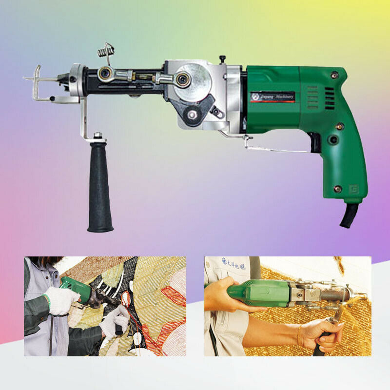Electric Hand Rug Tufting Gun Portable Carpet Weaving Rug Machine Cut &Loop Pile