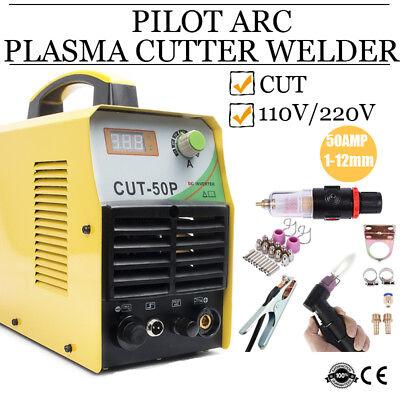 50a Plasma Cutter Pilot Arc 220v Digital Cutter 34-inch Cut Wsd60p Torch