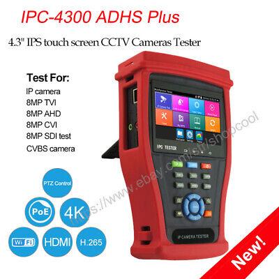 4.3camera Tester Wifi 4k H.265 Ipc-4300adhs Plus Cctv 5in1 Ip Tvi Ahd Cvi Sdi