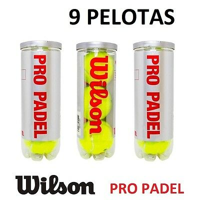 9X PELOTAS DE PADEL WILSON PRO PADEL PROFESIONAL COMPETICION 3 BOTES PELOTA, usado segunda mano  Madrid