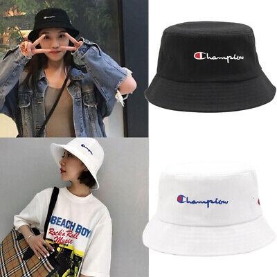 White Bucket Hat (Hot Champion Bucket Cap Fisherman Hat Sun Hat Black And White Lovers Basin)