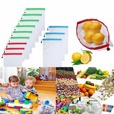 Wiederverwendbar Kordelzug Mesh Net Obst-und Gemüsebeutel Aufbewahrungstasche