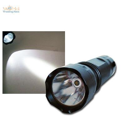 Linterna Eléctrica LED de Alta Potencia 5W Alu Negro Lámpara Luz