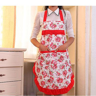 Blumen Küchenschürze Grillschürze Koch Schürze Latzschürze Arbeitskleidung 6202