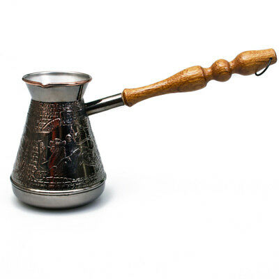 ARMENIAN TURKISH COFFEE POT MAKER CEZVE IBRIK Jezve Turka 20 fl oz (600 ml) SALE, used for sale  Shipping to Canada